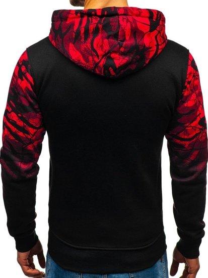 Bluza męska z kapturem czerwona Denley DD538