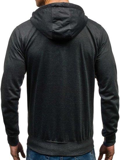Bluza męska z kapturem grafitowa Denley 7080
