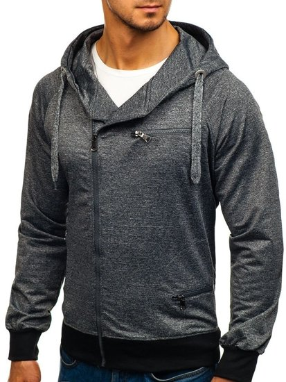 Bluza męska z kapturem grafitowa Denley 7093