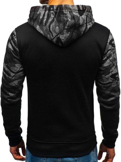 Bluza męska z kapturem grafitowa Denley DD538