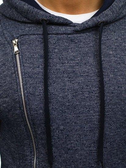 Bluza męska z kapturem granatowa Denley A83