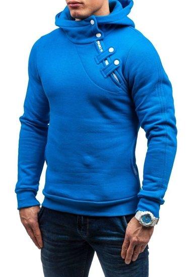 Bluza męska z kapturem indygo Denley MARIO