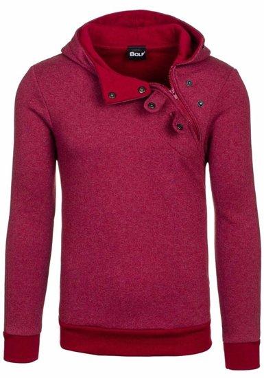 Bluza męska z kapturem jasnobordowa Bolf 06S