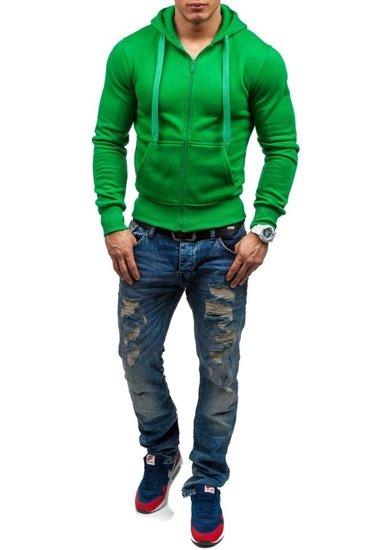 Bluza męska z kapturem jasnozielona Denley AK50