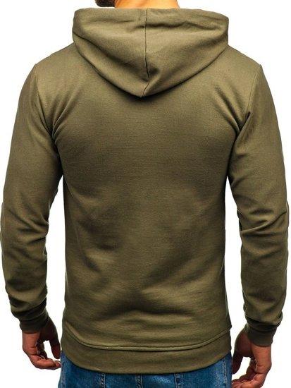 Bluza męska z kapturem khaki Bolf 5361