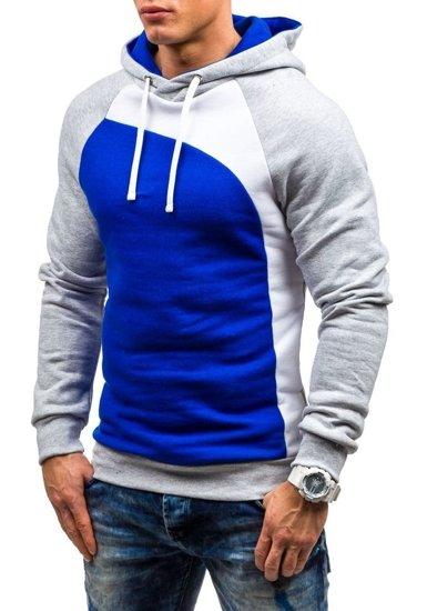 Bluza męska z kapturem kobaltowa Denley JACK