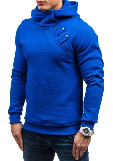 Bluza męska z kapturem kobaltowa Denley MARIO
