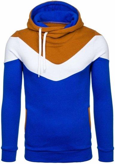 Bluza męska z kapturem kobaltowo-brązowa Denley RALPH