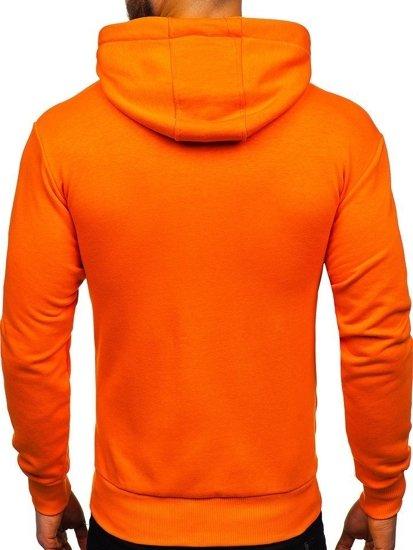Bluza męska z kapturem pomarańczowa Bolf 1004