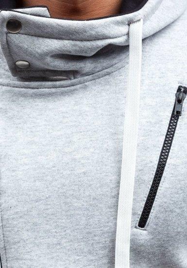 Bluza męska z kapturem szara Bolf 48S