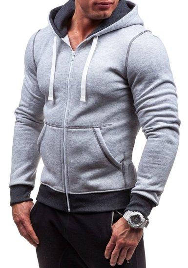Bluza męska z kapturem szara Bolf 66S