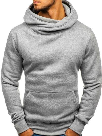 Bluza męska z kapturem szara Denley 2078