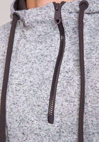 Bluza męska z kapturem szara Denley 2134