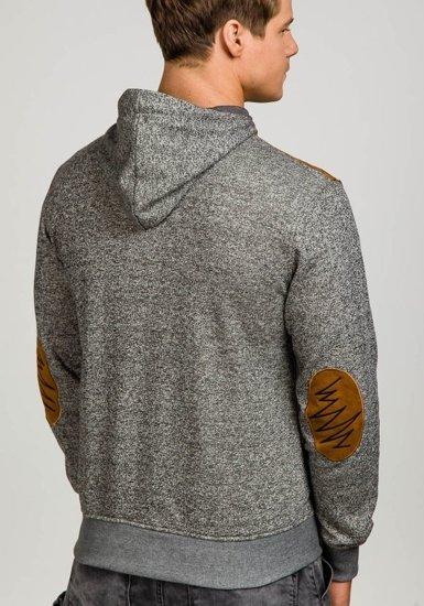 Bluza męska z kapturem szara Denley 3502