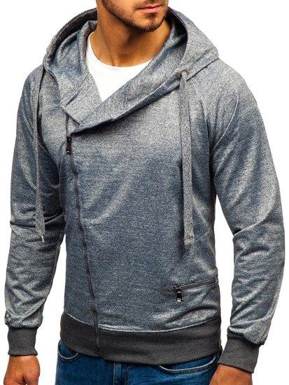 Bluza męska z kapturem szara Denley 7092