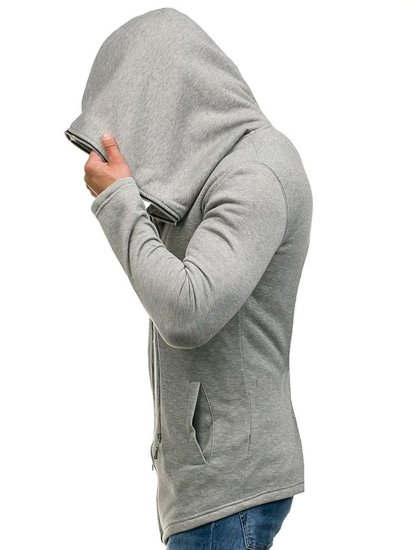 Bluza męska z kapturem szara Denley Y36-2