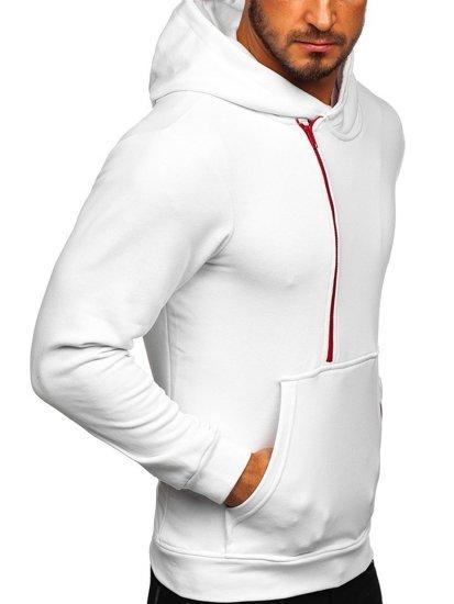 Bluza męska z kapturem z nadrukiem biała Bolf 01