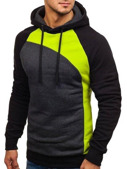 Bluza męska z kapturem zielona Bolf 28S