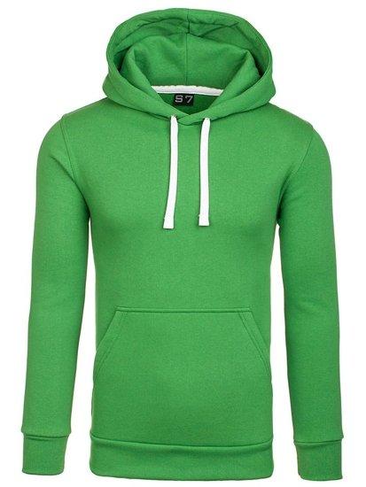 Bluza męska z kapturem zielona Denley 02