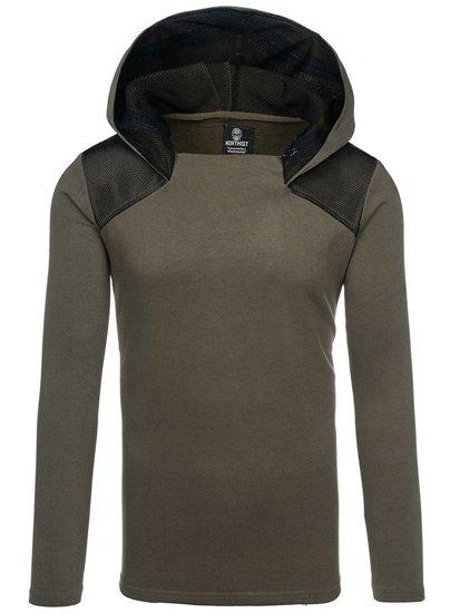 Bluza męska z kapturem zielona Denley NRT525
