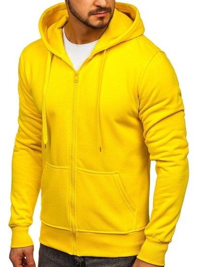 Bluza męska z kapturem żółta Denley 2008-A