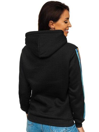 Czarna bluza damska z kapturem Denley KSW2009