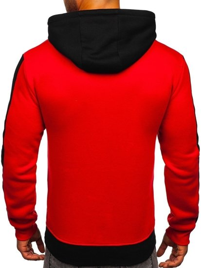 Czarna bluza męska z kapturem Denley KS2165