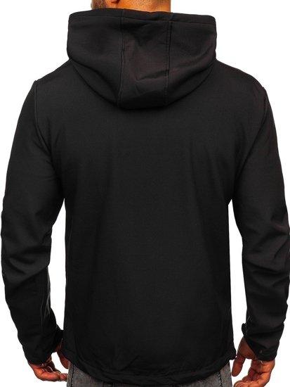 Czarna kurtka męska przejściowa softshell Denley KS2181