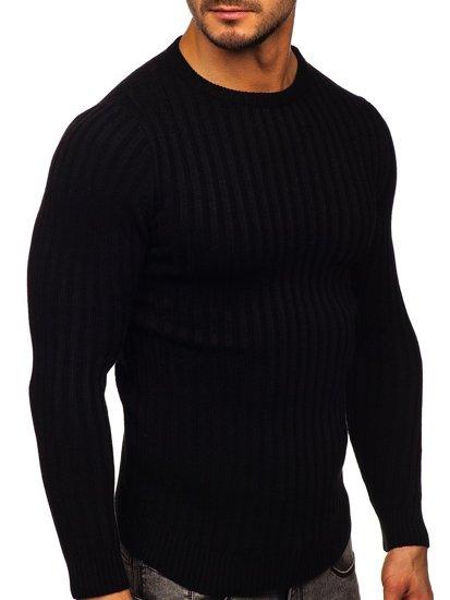 Czarny sweter męski Denley 4603