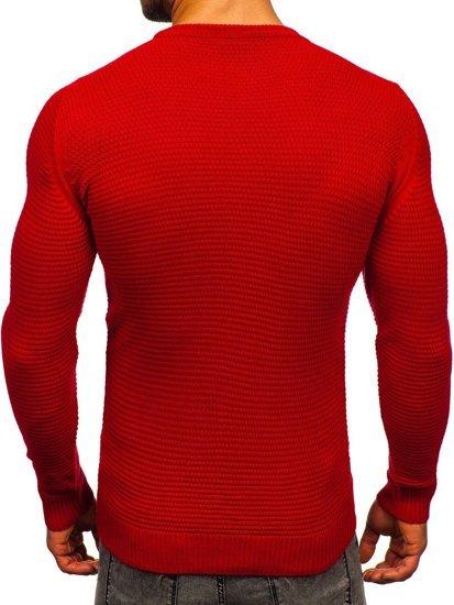 Czerwony sweter męski Denley 4604
