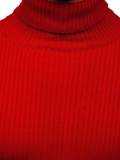 Czerwony sweter męski golf Denley 4607
