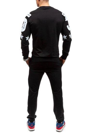 Dres męski czarny Denley 0360