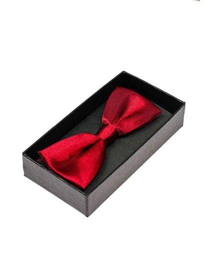 Elegancka mucha męska czerwona Denley M001