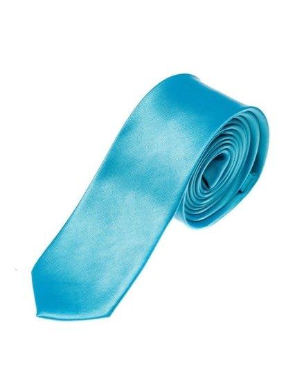 Elegancki krawat męski turkusowy Denley K001