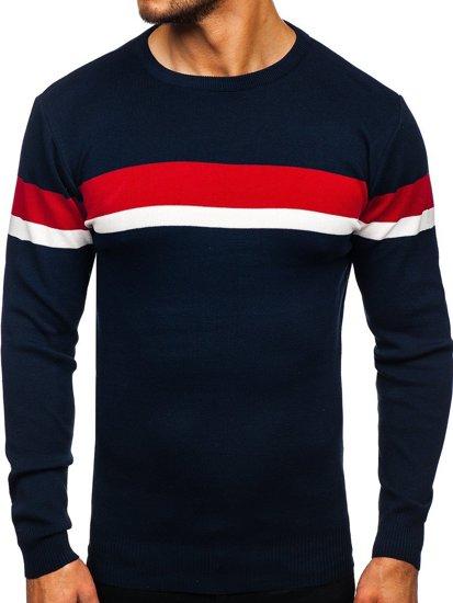 Granatowy sweter męski Denley H2072