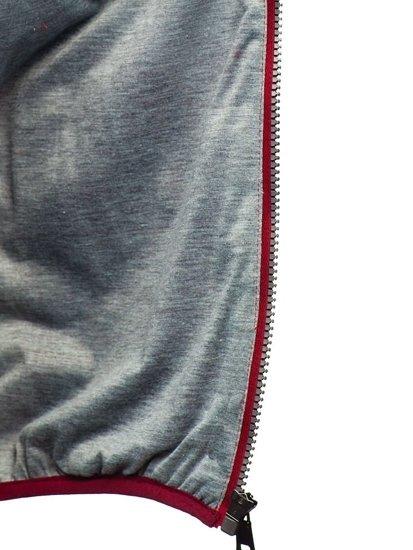 Kamizelka męska pikowana bordowa Denley 1253