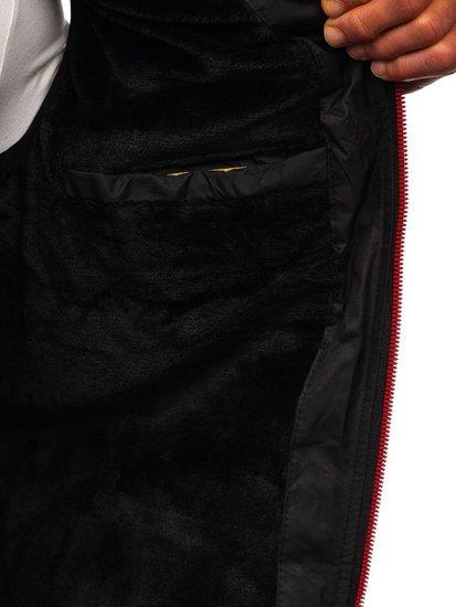 Kamizelka męska pikowana z kapturem czarna Denley 5802