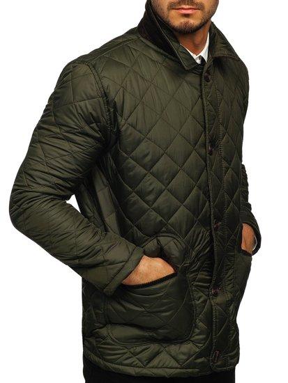 Khaki kurtka męska przejściowa elegancka typu husky Denley 0003