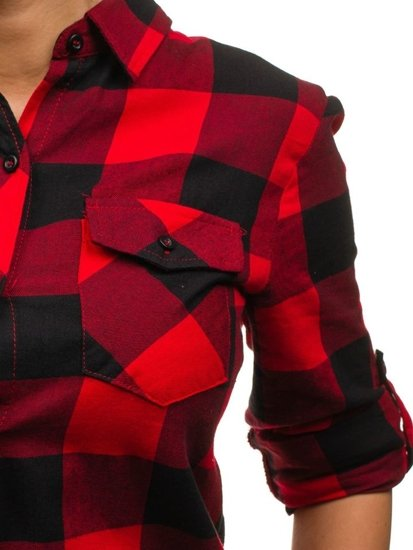 Koszula damska czerwona Denley 935