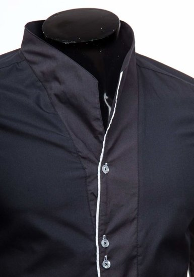 Koszula męska z długim rękawem czarna Bolf 5720-1
