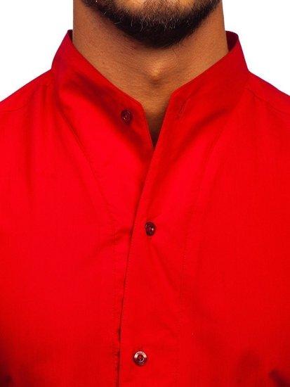Koszula męska z długim rękawem czerwona Bolf 5702