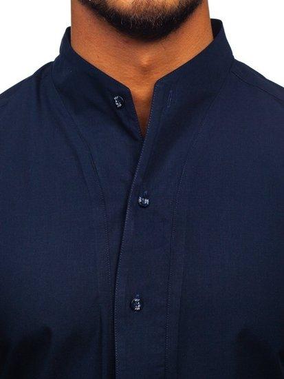 Koszula męska z długim rękawem granatowa Bolf 5702