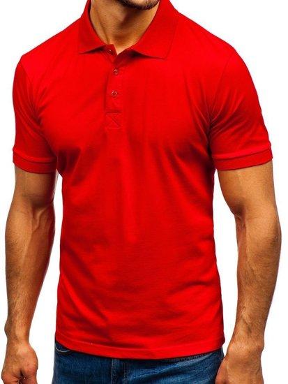 Koszulka polo męska czerwona Bolf 171221