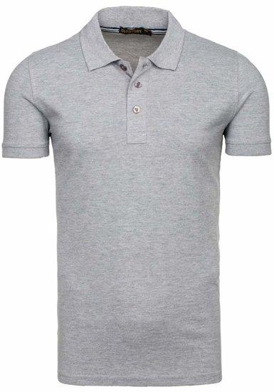 Koszulka polo męska szara Denley 6247