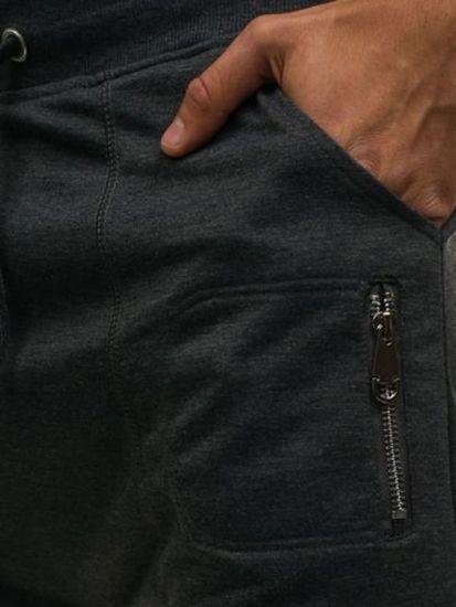 Krótkie spodenki dresowe męskie antracytowe Denley 6002