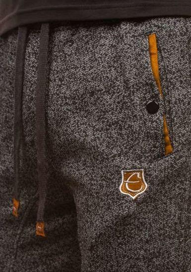 Krótkie spodenki dresowe męskie czarne Denley 120A