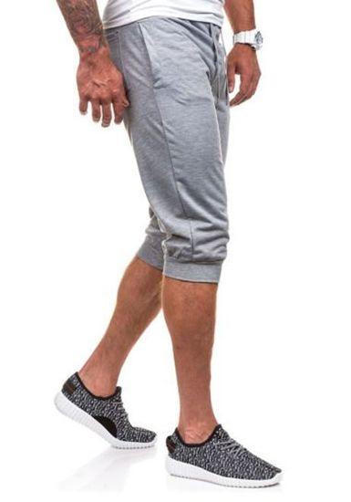 Krótkie spodenki dresowe męskie szare Denley 6011