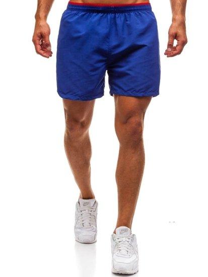Krótkie spodenki kąpielowe męskie niebieskie Denley Y768