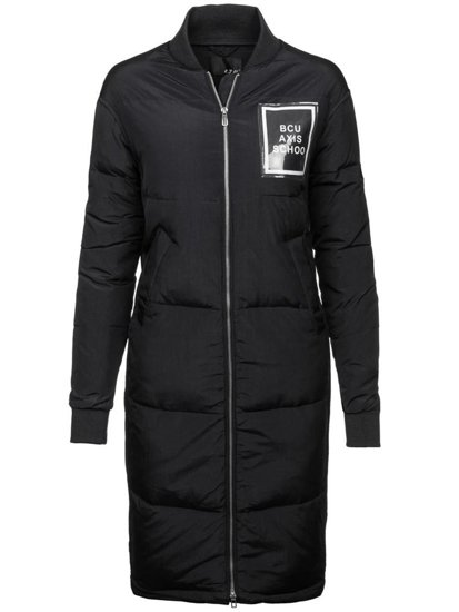 Kurtka damska zimowa czarna Denley 8068