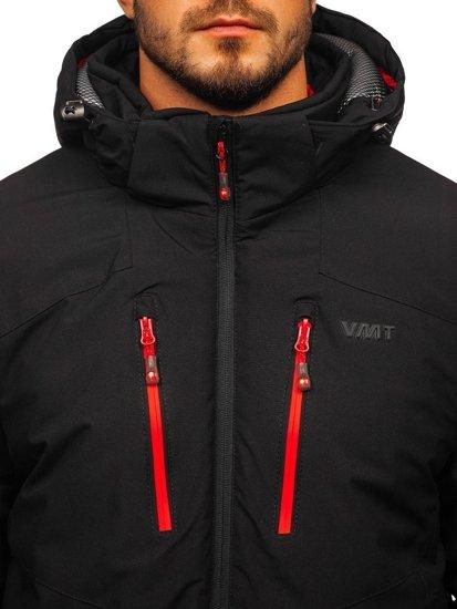 Kurtka męska narciarska czarno-czerwona  Denley BK193